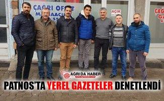Ağrı Patnos'ta Yerel Gazeteler Denetlendi