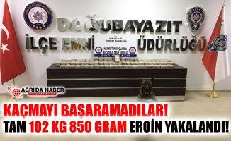 Doğubayazıt'ta Uyuşturucu Operasyonu! 102 Kg 850 Gram Eroin Yakalandı!
