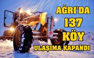 Ağrı'da 137 Köy Yolu Ulaşıma kapandı