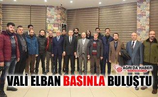 Ağrı Valisi Süleyman Elban Basın Mensuplarıyla Buluştu