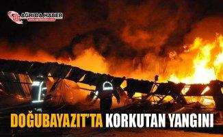 Doğubayazıt'ta Korkutan Depo Yangını