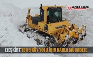 Eleşkirt'te 55 Köy Yolu için Karla mücadele Devam Ediyor