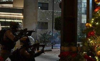 İsrail Askerleri Ramallah'a Baskın düzenledi