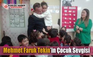 MehmetFaruk Tekin'in Okul ziyaretlerinde çocuk Sevgisi