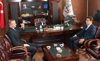 Ağrı Vali Yardımcısı Sarı'dan Milli Eğitim Müdürü Tekin'e Ziyaret