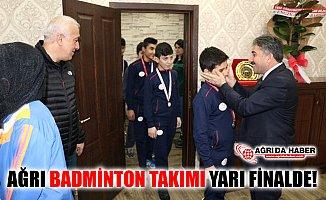Ağrı Erkek Badminton Takımı Yarı Finale Yükseldi