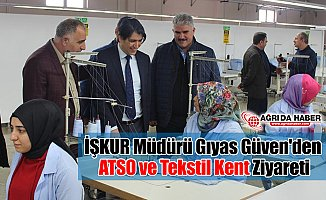 İŞKUR Müdürü Gıyas Güven'den ATSO ve Tekstil Kent Ziyareti