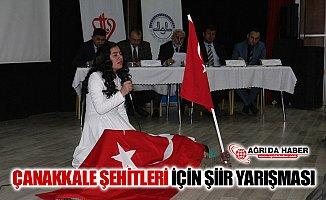 Ağrı'da Çanakkle Şehitleri için Şiir Yarışması Düzenlendi