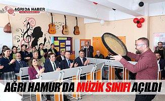 Ağrı Hamur'da Müzik Sınıfı Açıldı