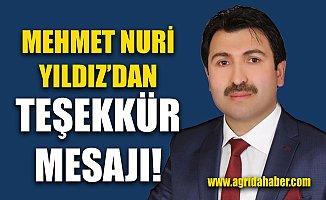 Ak Parti İl Genel Meclis 1.Sıra adayı Mehmet Nuri Yıldız'dan Açıklama ve Teşekkür