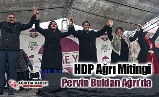 HDP Ağrı Mitingini Pervin Buldan'ın katılımıyla düzenledi