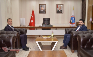 Ağrı Milli Eğitim Müdürü Tekin'den Başkan Sayan'a hayırlı olsun ziyareti