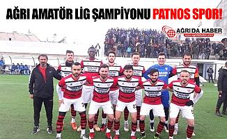 Ağrı Amatör Ligi'nin Şampiyonu Patnos Spor Oldu
