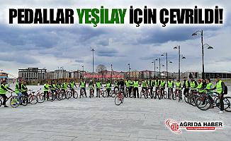 Ağrı'da Pedallar Yeşilay İçin Çevrildi