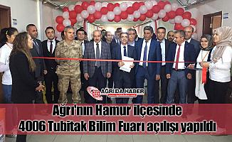 Ağrı'nın Hamur ilçesinde 4006 Tubitak Bilim Fuarı açılışı yapıldı