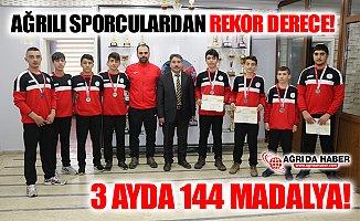Ağrılı Sporculardan 3 Ayda 144 Madalya!