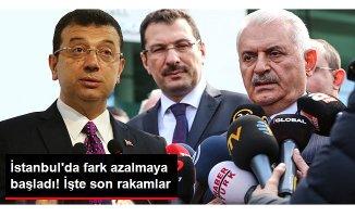 İstanbul'da Oy Sayım İşlemi Devam Ediyor! Fark Azalıyor!