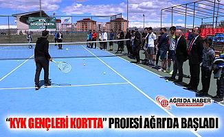 """""""KYK Gençleri Kortta"""" Projesi Ağrı'da Başladı"""