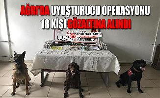 Ağrı'da Uyuşturucu Operasyonu! 18 Kişi Gözaltına Alındı!