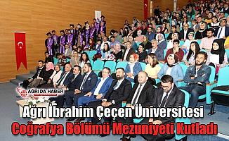 Ağrı İbrahim Çeçen Üniversitesi Coğrafya Bölümü Mezuniyeti Kutladı