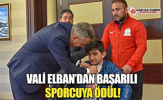 Ağrı Valisi Süleyman Elban'dan Başarılı Sporcuya Ödül