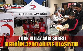 Türk Kızılay Ağrı Şubesi Günlük 3200 kişilik sıcak yemek veriyor