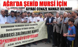Ağrı'da Şehid Muhammed Mursi İçin Gıyabi Cenaze Namazı Kılındı!
