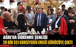 Ağrı'da Öğrenme Şenliği: 20 Bin 351 Kursiyer hünerlerini sergiledi