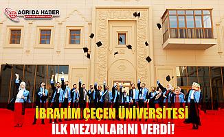 Ağrı İbrahim Çeçen Üniversitesi İlk Mezunlarını Verdi