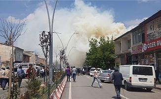 Ağrı Taşlıçay'da Korkutan Yangın