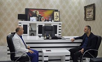 Mehmet Şafi Erim'den İHA Ağrı Temsilcisi Ahmet Genç'e Ziyaret