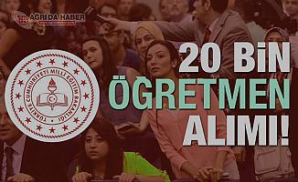 Milli Eğitim Bakanlığı 20 bin Sözleşmeli öğretmen için Atama takvimini açıkladı