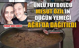 Ünlü Futbolcu Mesut Özil'in Düğün yemeği 16 Bin İhtiyaç Sahibine ulaştırıldı