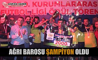 Ağrı Barosu Kurumlar Arası Futbol Turnuvasında Şampiyon oldu