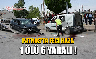 Ağrı'da Feci Kaza: Otomobil İle Ticari Araç Çarpıştı 1 Ölü 6 Yaralı