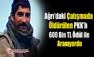 Ağrı'da Öldürülen PKK'lı 600 Bin TL ödül ile Aranan Uğur Arslan olduğu Anlaşıldı
