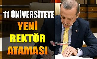 Cumhurbaşkanı Erdoğan 11 Üniversiteye Rektör ataması yaptı