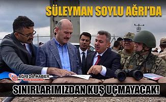 İçişleri Bakanı Süleyman Soylu Ağrı'da Sınır Duvarlarını inceledi