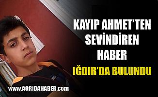 Ağrı'da Kayıp Çocuk Ahmet Yasin Batgın Bulundu