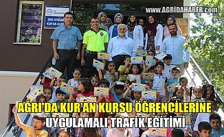Ağrı'da Kur'an Kursu öğrencilerine Trafik Eğitimi