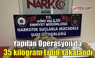 Ağrı'da Tır'dan 35 kilogram Eroin Çıktı!