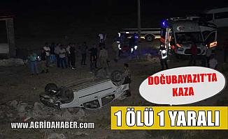 Ağrı Doğubayazıt'ta Otomobil Şarampole Uçtu! 1 Ölü 1 Yaralı