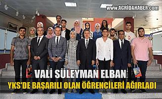 Ağrı Valisi Süleyman ELBAN YKS'de Başarılı Olan Öğrencileri kabul etti