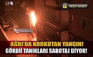 Ağrı'da Gece Yarısı Korkutan Yangın