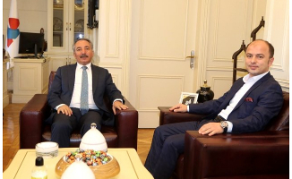 Başsavcı Hasan Turgut'tan AİÇÜ Rektörü Karabulut'a Ziyaret
