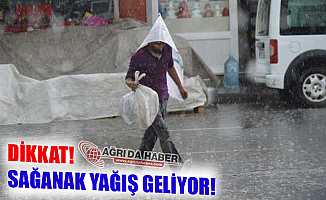 Doğu Anadoluda Sağanak Yağış Uyarısı!