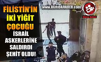 Filistin'li İki Çocuk İsrail Askerlerine Bıçakla Saldırdı Video Haber