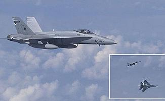 Rusya ve NATO uçakları yan yana
