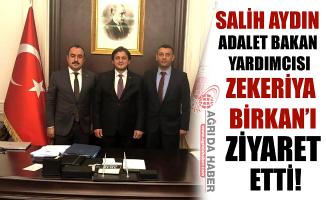 Ağrı Baro Başkanı Aydın'dan, Adalet Bakan Yardımcısı Birkan'a Ziyaret!