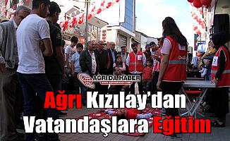 Ağrı Kızılay'dan Vatandaşlara eğitim